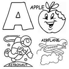 Capital Letter A And Small Coloring Page