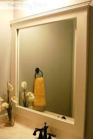 Diy Industrial Bathroom Mirror by Mirrors Ideas For Framing A Large Bathroom Mirror Industrial