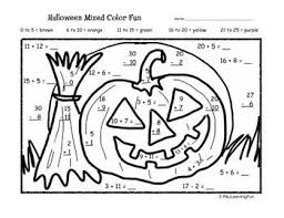 Halloween Math Color By Number The Best Worksheets Image Collection