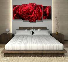 Wall Decor Rose Gold Art Contemporary Metal Sculpture Within Most Current Red