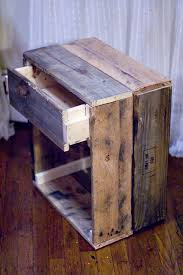 Rustic Reclaimed Wood Side Table Via Blackoakvintage
