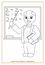 Teacher Colouring Page 2