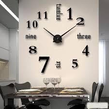 3d wall clock etsy diy wanduhren wohnzimmeruhren wanduhr