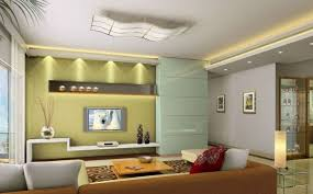 Tv Wall Decor Ideas White Melamine Entertainment Center Television Square Coffe Table Brown Fabric Sofa Throw Pillows Carpet Ceiling Lamp Recessed