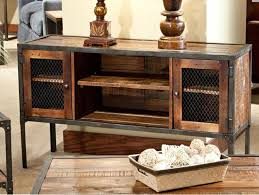 Entertainment Console Tables Iron Reclaimed Woods Entertainments Center Rustic Industrial Wood And Metal Consoles Table