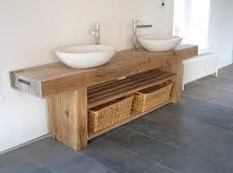 oak beam double sink vanity unit ebay outdoor deco pinterest