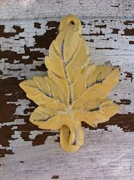 Cast Iron Leaf Door Knocker Spring Home Decor Shabby And Distressed New Gift