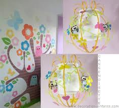 lustre chambre bebe fille décoration arbre luminaire enfant luminaire enfant le