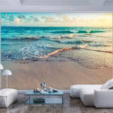 fototapete selbstklebend strand meer 343x256 cm tapete wandtapete wandbilder klebefolie dekofolie tapetenfolie wand dekoration wohnzimmer landschaft