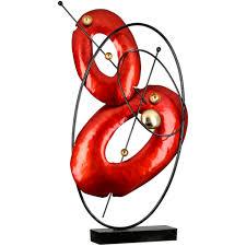 casablanca by gilde dekoobjekt skulptur gallery rot gold schwarz höhe 60 cm aus metall wohnzimmer