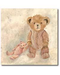 tableau ourson chambre bébé tableau enfant ours paul décoration ourson pour chambre de bébé