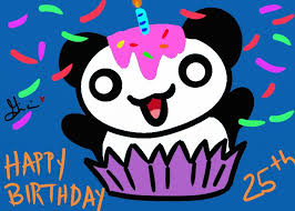 Happy Birthday Panda Cupcake by Miladolche