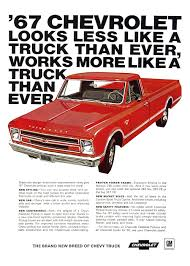 Chevrolet Trucks Advertising Campaign (1967): A Brand New Breed! - Blog 1967 Chevy C10 Pickup Truck Hot Rod Network Wood Beds Bed Trucks Are You Fast And Furious Enough To Buy This 67 Silverado Pick Up Painted Fleece Blanket For Sale Chevrolet Youtube Ck Wikipedia Rare K10 4x4 Short Frame Off K20 4x4 Lane Classic Cars Rebuilt A To Celebrate 100 Years Of Truck Making 2015 Offers Custom Sport Package