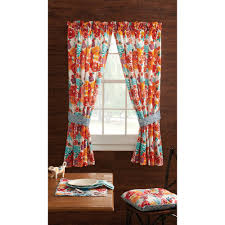 Jacobean Style Floral Curtains by Pioneer Woman Kitchen Curtain And Valance 2pc Set Flea Market