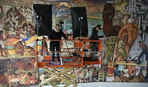 the delicate of moving photographing diego rivera mural sfgate