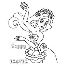 Dalmatian Celebration On Easter Ariel Coloring Page