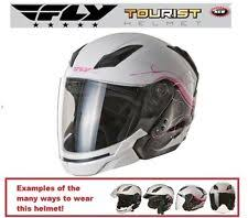 Fly Racing Tourist Multi Style Flat Black Helmet Scooter Vespa Can Am Universal