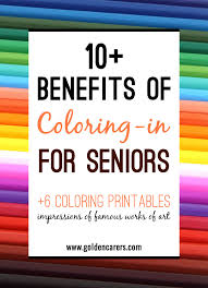 The Benefits Of Coloring In For Elderly