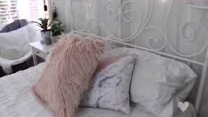 Home accessory white pillow pillow marble pink light pink