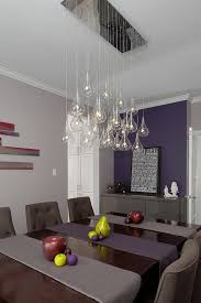 Stylish Purple Accent Wall In The Contemporary Dining Room