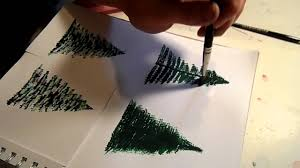 Types Of Christmas Tree Leaves by How To Paint A Pine Tree Or Christmas Tree Youtube