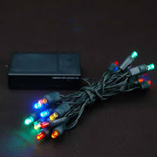20 LED Battery Operated Lights Multi Colored