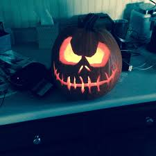 Nightmare Before Christmas Pumpkin Template by Carved A Nightmare Before Christmas Pumpkin Turned Off The Lights
