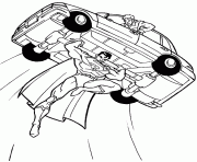 Superman Flying With A Car Coloring Pageba0a Pages
