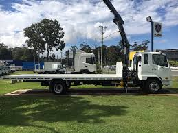 2018 Fuso Fighter 1124 Tray And Crane - K & J Trucks