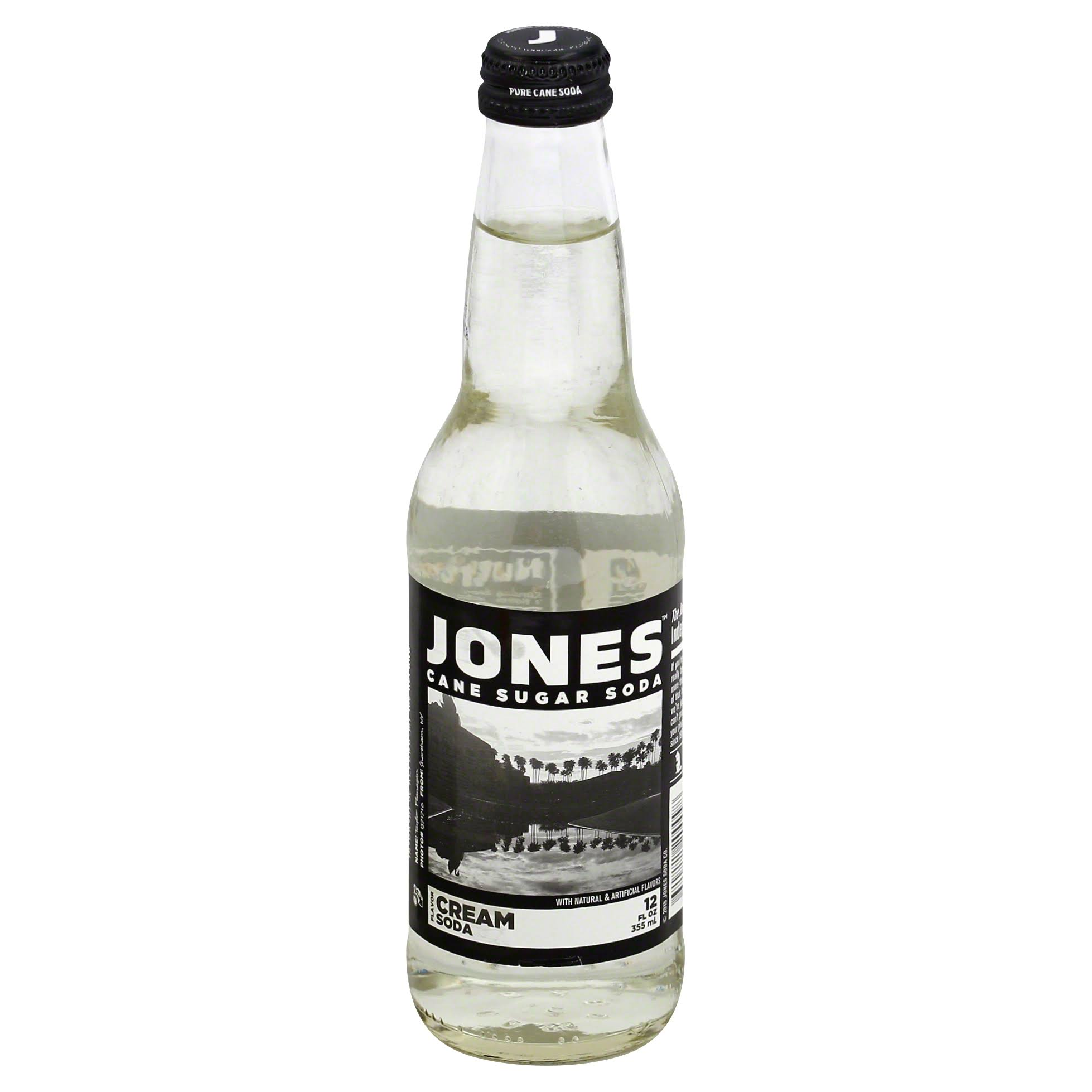 Jones Soda, Cane Sugar, Cream Flavor - 12 fl oz