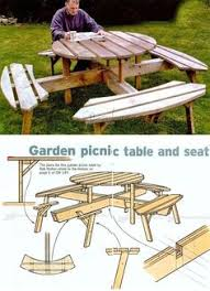 free octagon picnic table plans and drawings the best image