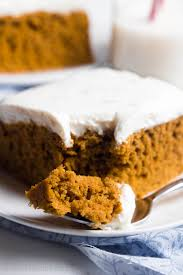 Pumpkin Cake Mix Bars by Pumpkin Cake With Cream Cheese Frosting Amy U0027s Healthy Baking