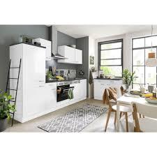 optifit küchenzeile parare 210 bzw 270 cm mit hanseatic e geräten wahlweise mit oder ohne kühlschrank