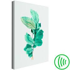 pflanzen vlies leinwand deko bilder wie gemalt xl wandbild