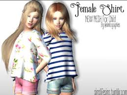 Child Female Shirt Long Sleeves