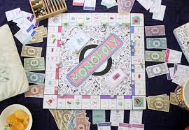 Monopoly Game In Play Personalised Board