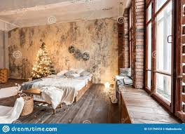 100 Brick Loft Apartments Style Bed In The Bedroom High Large