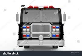 Black Firetruck Front View Isolated On Stock Illustration 396622591 ...