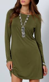 army green long sleeve designers casual dress green long sleeve