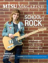 Mtsu Magazine Summer 2016 Vol. 21, No. 1 By Middle Tennessee State ...