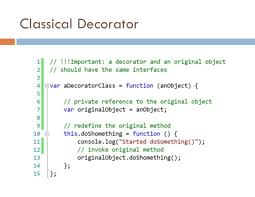 Decorator Pattern Javascript Example by Modern Javascript Applications Design Patterns