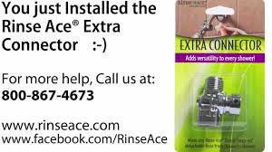 Rinse Ace Sink Faucet Rinser by How To Install Shower Hose Connector By Rinse Ace Youtube
