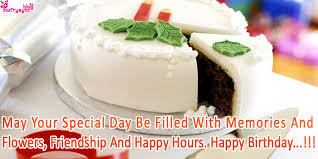 Happy Birthday Wishes With Cake for Friends