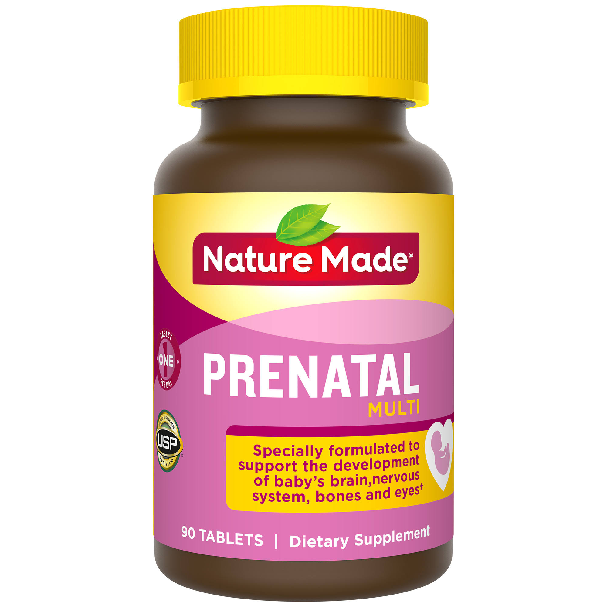 Nature Made Multi Prenatal Dietary Supplement - 90 Tablets