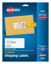 Avery 8163 Shipping Labels Permanent Adhesive 250
