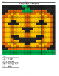 Halloween Brain Teasers Worksheets by Halloween Pumpkin Holiday Addition Coloring Squared Pinterest