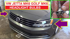 how to remove and replace headlight bulb on vw jetta mk6 vw golf