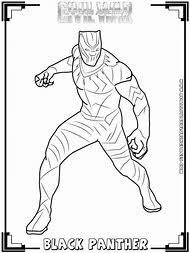 Black Panther Civil War Coloring Pages