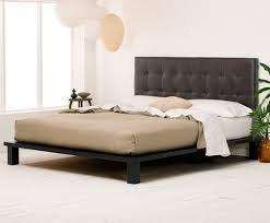 King Platform Bed With Leather Headboard by Solide Platform Bed Vintage Brown Leather Headboard Charles P