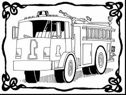 Superb Fire Truck Coloring Pages Printable With Firetruck Page And